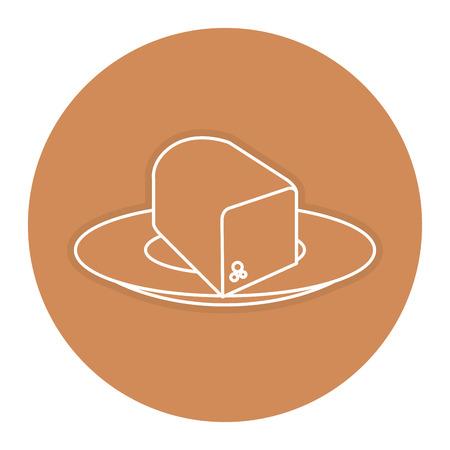 delicious toast bread icon vector illustration design