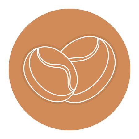コーヒー穀物分離アイコン ベクトル イラスト デザイン