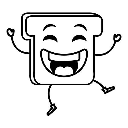 맛있는 토스트 빵 아이콘 벡터 일러스트 레이 션 디자인