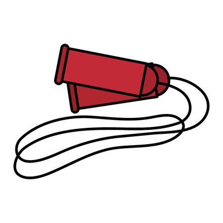 touw gym geïsoleerd pictogram vector illustratie ontwerp