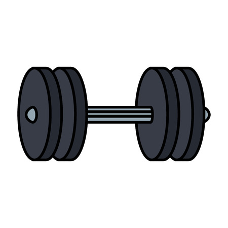 weight lifting device gym vector illustration design