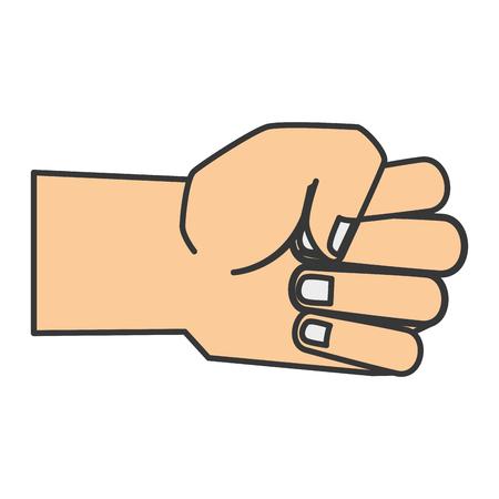 hand human fist icon vector illustration design 向量圖像