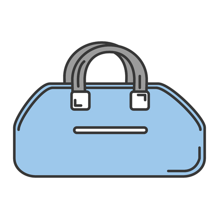 gym bag isolated icon vector illustration design