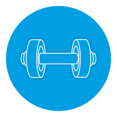 heavy: weight lifting device gym vector illustration design