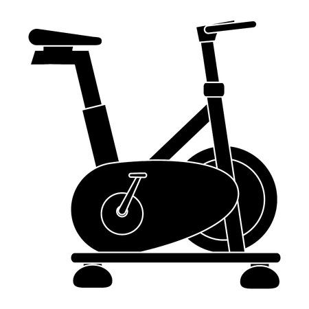 spinning bike isolated icon vector illustration design