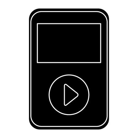 음악 플레이어 mp3 아이콘 벡터 일러스트 레이 션 디자인
