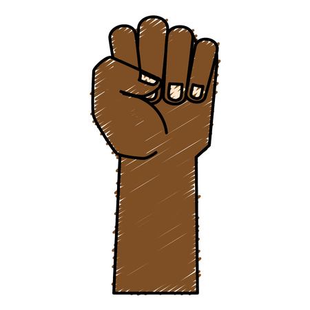 hand human fist icon vector illustration design Иллюстрация
