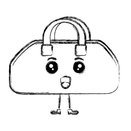 gym bag kawaii character vector illustration design
