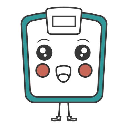 scale weight measure kawaii character vector illustration design Illustration