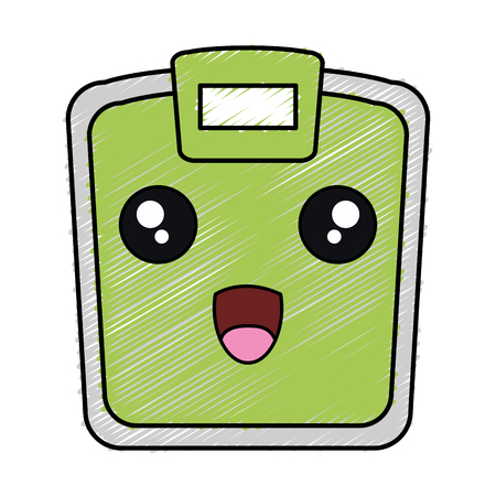 scale weight measure kawaii character vector illustration design Ilustração