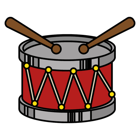 rhythm rhythmic: drum musical instrument icon vector illustration design Illustration