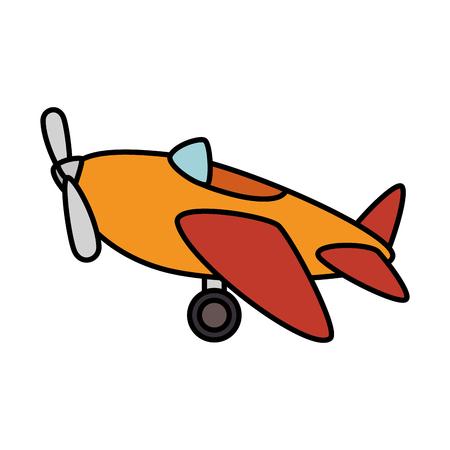 비행기 장난감 격리 된 아이콘 벡터 일러스트 레이 션 디자인