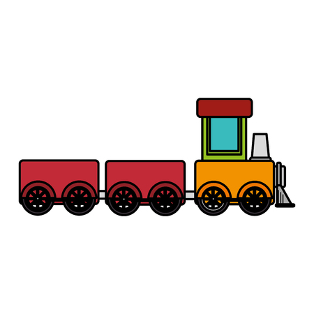 Train toy isolated icon vector illustration design Stock Vector - 84216282