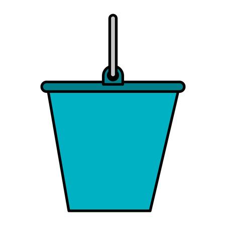 Zand emmer geïsoleerd pictogram vector illustratie ontwerp
