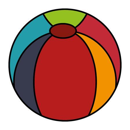 Plastikballon lokalisierte Ikonenvektor-Illustrationsdesign Standard-Bild - 84216277