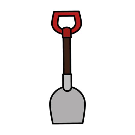 Shovel tool isolated icon vector illustration design Иллюстрация