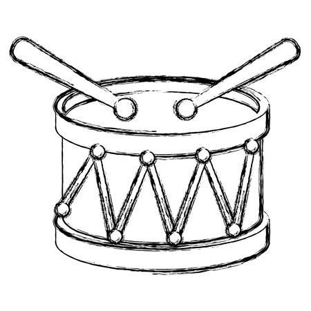 Drum musical instrument icon vector illustration design Ilustração