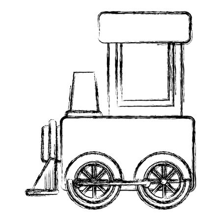 Train toy isolated icon vector illustration design 向量圖像