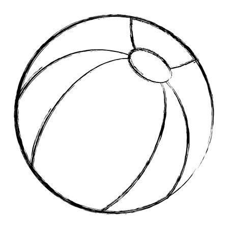 Ikonenvektor-Illustrationsdesign des Plastikballons lokalisiertes Standard-Bild - 84216293