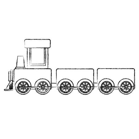 Trein speelgoed geïsoleerd pictogram vector illustratie ontwerp