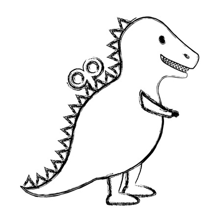 t-rex toy isolated icon vector illustration design