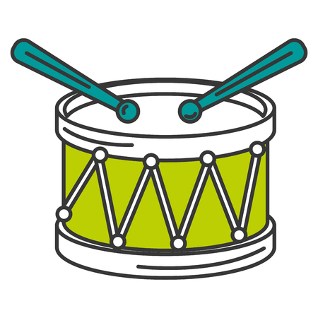 drum musical instrument icon vector illustration design Ilustrace