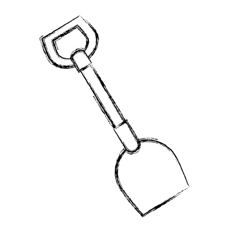 shovel tool isolated icon vector illustration design