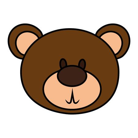 테디 격리 된 아이콘 벡터 일러스트 디자인 곰