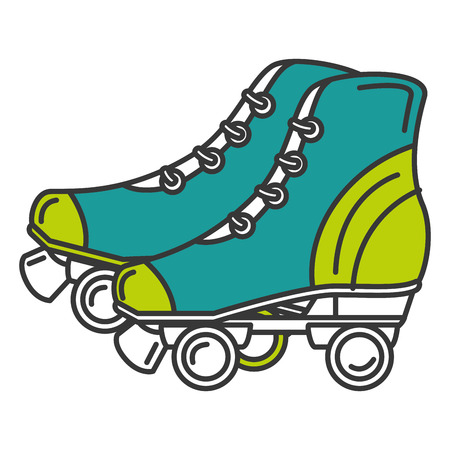 skates old isolated icon vector illustration design