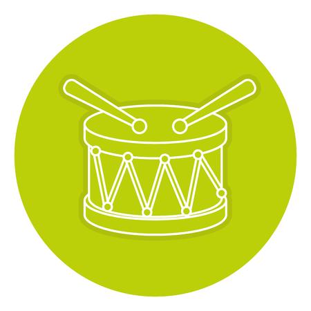 ドラム楽器アイコン ベクトル イラスト デザイン 写真素材 - 84211764