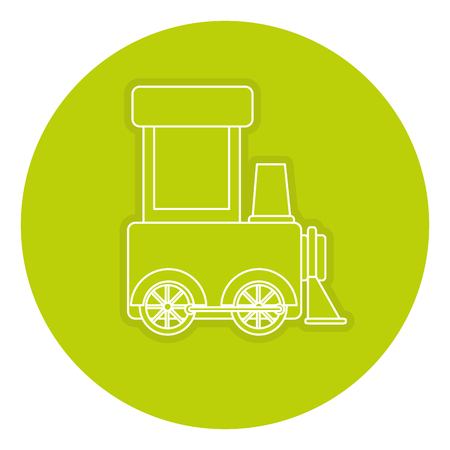 Train toy isolated icon vector illustration design Illustration