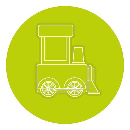 Vector de illustratieontwerp van het treinstuk speelgoed geïsoleerd pictogram