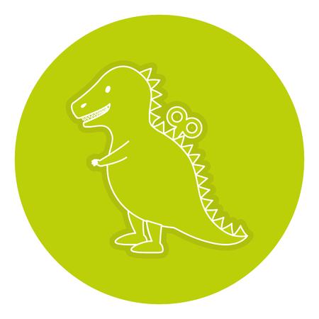 T-rex toy isolated icon vector illustration design Illustration