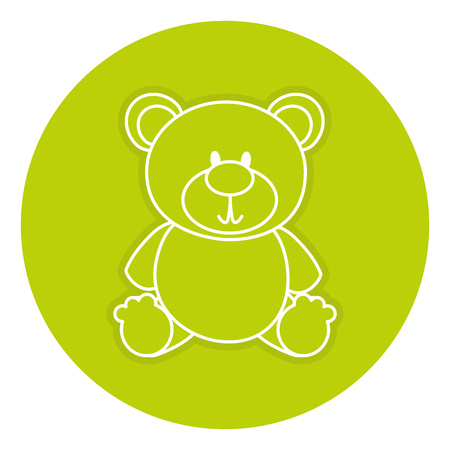 Ours teddy isolé icône vector illustration design Banque d'images - 84211766