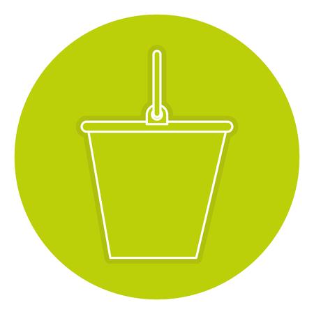 Sand bucket isolated icon vector illustration design Illustration