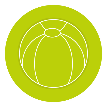 Ikonenvektor-Illustrationsdesign des Plastikballons lokalisiertes Standard-Bild - 84211769