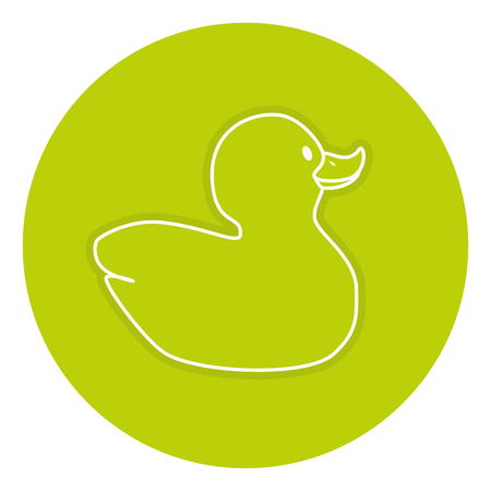 Rubber ducks isolated icon vector illustration design Illusztráció