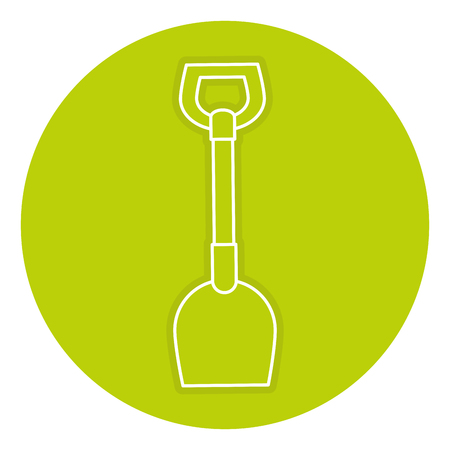 Shovel tool isolated icon vector illustration design Ilustração