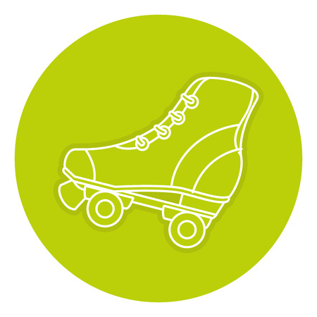 skates old isolated icon vector illustration design Stock fotó - 84211779