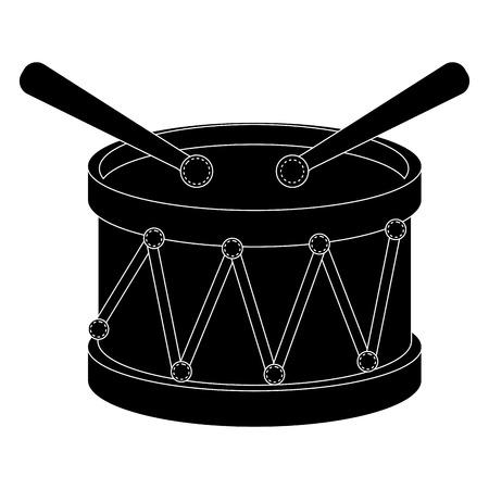 ドラム楽器アイコン ベクトル イラスト デザイン
