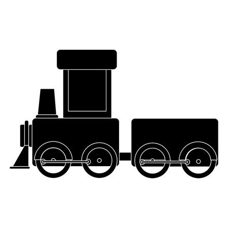 Tren juguete aislado icono vector ilustración diseño Foto de archivo - 84227999