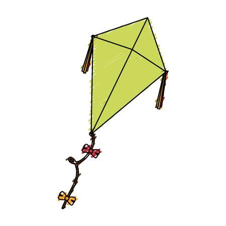 凧の飛行分離アイコン ベクトル イラスト デザイン