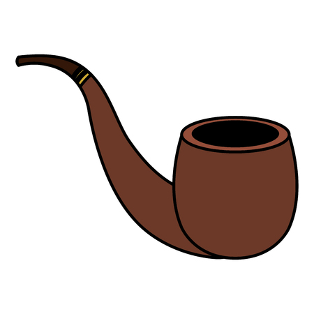Wooden pipe isolated icon vector illustration design Фото со стока - 84227960