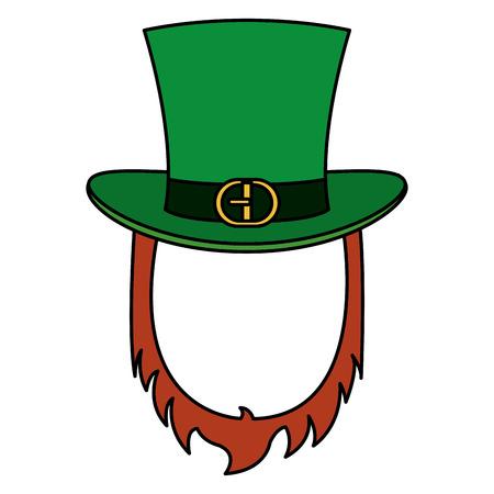 elves: Irish elf hat and beard saint patrick celebration vector illustration design Illustration