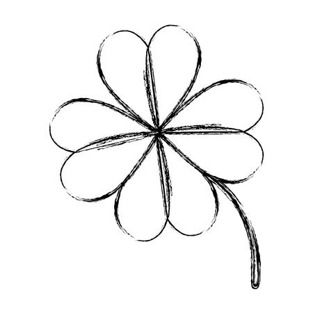 saint patrick clover icon vector illustration design Ilustração