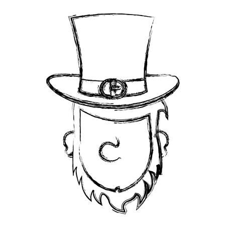 leprechaun avatar character icon vector illustration design Ilustrace