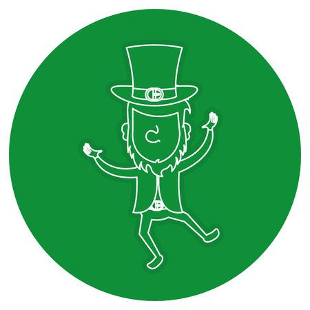 leprechaun avatar character icon vector illustration design Illustration