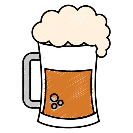 beer jar celebration icon vector illustration design