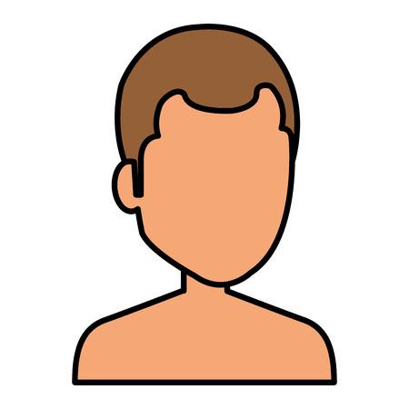 young man shirtless avatar character vector illustration design Stock Vector - 84227662