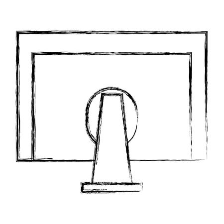 Retour de moniteur icône illustration vectorielle design Banque d'images - 84227648